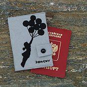 """Канцелярские товары ручной работы. Ярмарка Мастеров - ручная работа Обложка на паспорт """"Бэнкси"""". Handmade."""