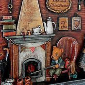 """Для дома и интерьера ручной работы. Ярмарка Мастеров - ручная работа """"Мишкин дом"""" папье-маше, дерево. Handmade."""