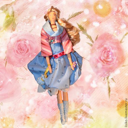 Коллекционные куклы ручной работы. Ярмарка Мастеров - ручная работа. Купить Юлина. Handmade. Интерьерная кукла, лён 100%