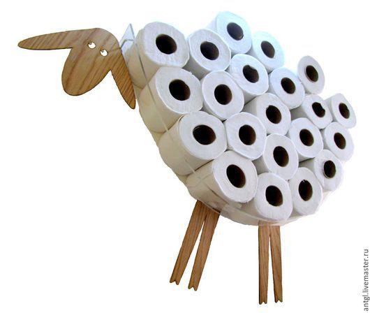 Овца - мечтательница - Полка для хранения до 30 рулонов туалетной бумаги