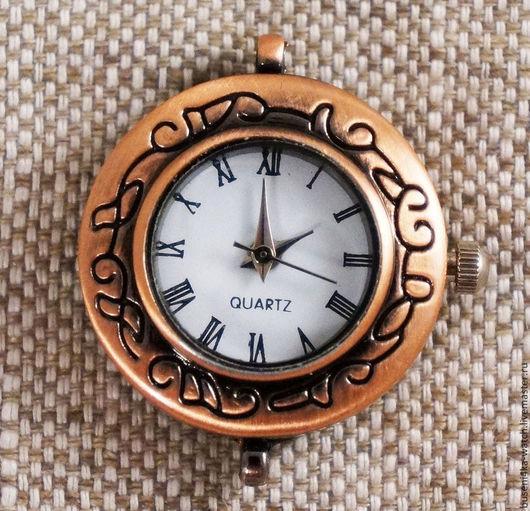Для украшений ручной работы. Ярмарка Мастеров - ручная работа. Купить Основа для часов Петли №2 римские, античная медь (1шт). Handmade.