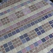 """Для дома и интерьера ручной работы. Ярмарка Мастеров - ручная работа """"Лиловые льняные нити"""" кофейный стол с мозаикой. Handmade."""
