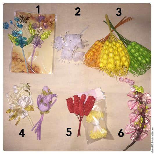 Другие виды рукоделия ручной работы. Ярмарка Мастеров - ручная работа. Купить Цветы, спиральки, тычинки. Handmade. Цветы
