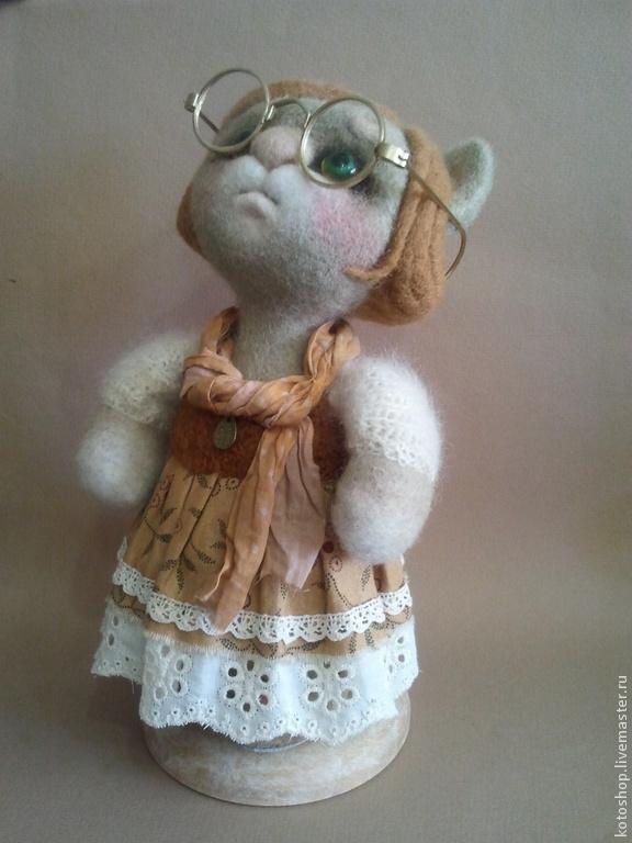 Коллекционные куклы ручной работы. Ярмарка Мастеров - ручная работа. Купить интерьерная кукла -кошка. Handmade. Коллекционная кукла