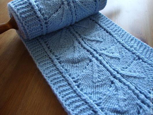 """Шарфы и шарфики ручной работы. Ярмарка Мастеров - ручная работа. Купить Шарф """"Морозный узор"""" женский. Handmade. Голубой, для женщины"""