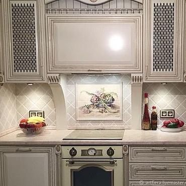 Diseño y publicidad manualidades. Livemaster - hecho a mano Painted tile Mural over the stove Artichokes. Handmade.