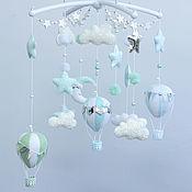 Работы для детей, handmade. Livemaster - original item Children`s mobile made of felt