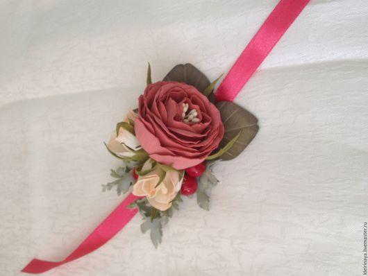Свадебные украшения ручной работы. Ярмарка Мастеров - ручная работа. Купить браслеты для подружек невесты. Handmade. Комбинированный, свадебные украшения