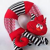 """Для дома и интерьера ручной работы. Ярмарка Мастеров - ручная работа Подушка под шею""""Red cat"""". Handmade."""