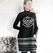 Одежда ручной работы. Ярмарка Мастеров - ручная работа Сарафан теплый Хан-чай 4854. Handmade.
