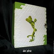 Для дома и интерьера handmade. Livemaster - original item The housekeeper Curious chameleon. Handmade.