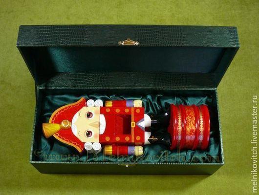 """Статуэтки ручной работы. Ярмарка Мастеров - ручная работа. Купить Подарочный набор """"зубастик"""" музыкальный принц. Handmade. Ярко-красный"""