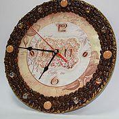 Для дома и интерьера ручной работы. Ярмарка Мастеров - ручная работа Часы Кофе Латте. Handmade.