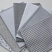 Материалы для творчества handmade. Livemaster - original item A set of fabrics for patchwork Gray. Handmade.