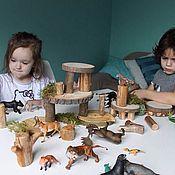 Куклы и игрушки ручной работы. Ярмарка Мастеров - ручная работа Лесной конструктор для детей. Handmade.