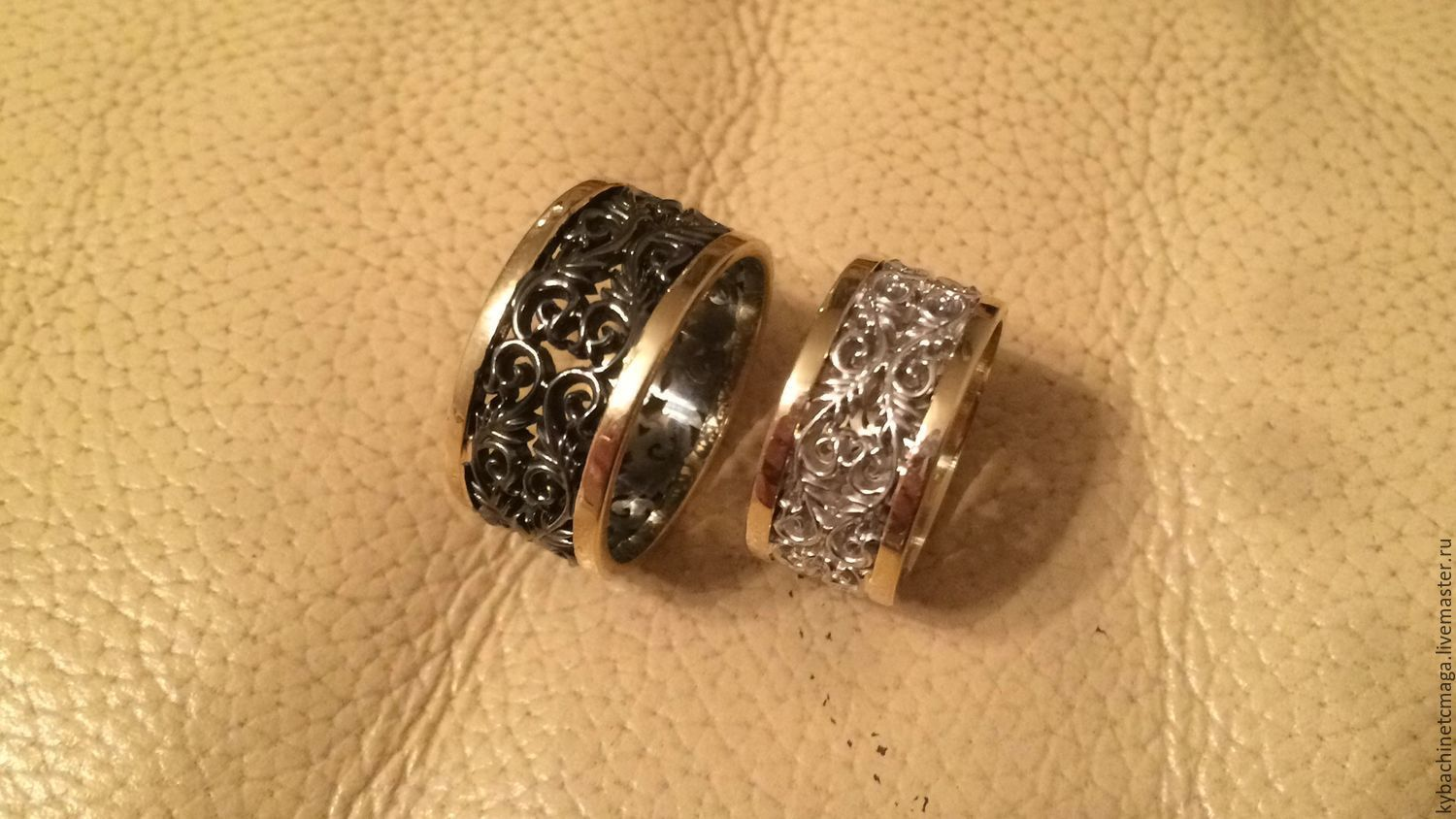 Wedding rings made of silver and gold, Wedding rings, Moscow,  Фото №1