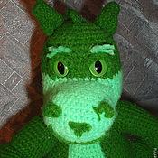 Куклы и игрушки ручной работы. Ярмарка Мастеров - ручная работа Дракон зеленый вязаный. Handmade.