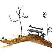 """Сувениры и подарки ручной работы. Ярмарка Мастеров - ручная работа Миниатюрная авторская композиция для фотографии""""Летний вечер в парке """". Handmade."""
