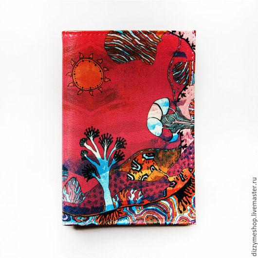 """Обложки ручной работы. Ярмарка Мастеров - ручная работа. Купить Обложка для паспорта """"Саванна розовая"""". Handmade. Розовый, деревья"""