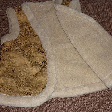 Одежда ручной работы. Ярмарка Мастеров - ручная работа Жилет меховой р.50 шерсть овечья Нина. Handmade.