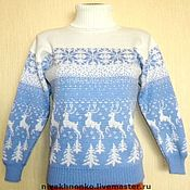 Одежда handmade. Livemaster - original item A sweater with a reindeer Norwegian Forest deer. Handmade.