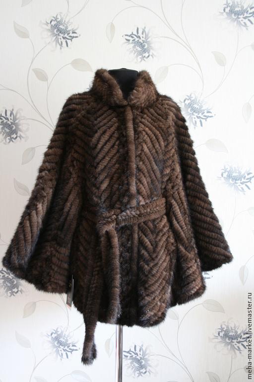 Куртка из вязаной норки `Летучая мышь` новинка