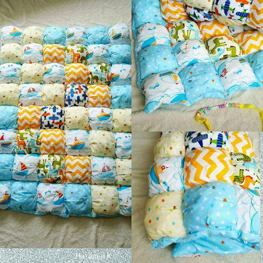 Пледы и одеяла ручной работы. Ярмарка Мастеров - ручная работа. Купить Бомбон одеяло.. Handmade. Одеяло пэчворк, одеяло для мальчика