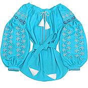 "Одежда handmade. Livemaster - original item Women`s Boho style blouse - vyshyvanka ""Azure Dawn"". Handmade."