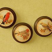 """Для дома и интерьера ручной работы. Ярмарка Мастеров - ручная работа набор панно """"Птички-невелички"""". Handmade."""