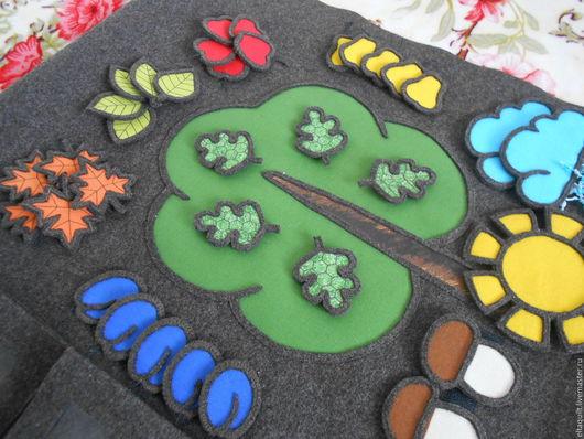 """Развивающие игрушки ручной работы. Ярмарка Мастеров - ручная работа. Купить Развивающая игра """"Осень"""". Handmade. Комбинированный, липучка"""