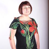 Одежда ручной работы. Ярмарка Мастеров - ручная работа Маки для фактурных девушек Платье вечернее с открытой спиной, длинное. Handmade.
