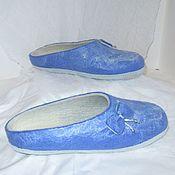 Обувь ручной работы. Ярмарка Мастеров - ручная работа Тапки валяные Снег идет. Handmade.