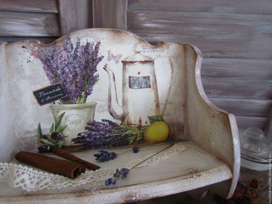 """Мебель ручной работы. Ярмарка Мастеров - ручная работа. Купить Полочки """"Лавандовый  прованс"""". Handmade. Сиреневый, вешалка, винтаж"""