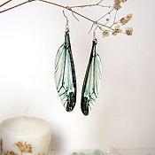 Украшения handmade. Livemaster - original item Transparent Wings Earrings Dragonfly Butterfly Insects Epoxy Resin 2. Handmade.