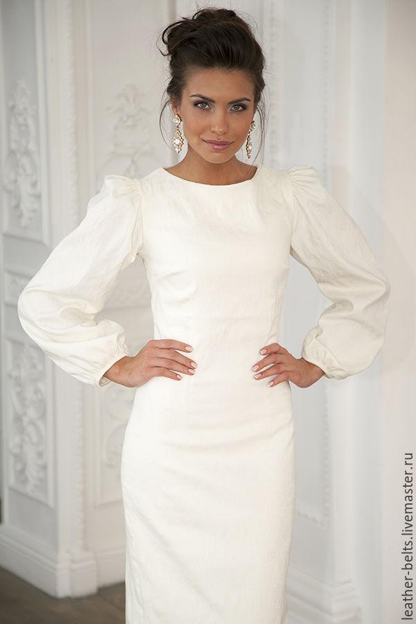 Фото платьев с рукавом пышным