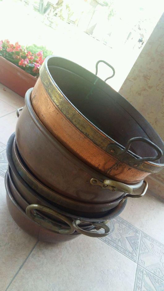 Винтажная посуда. Ярмарка Мастеров - ручная работа. Купить Огромный антикварный таз для готовки. Handmade. Таз, антиквариат винтаж