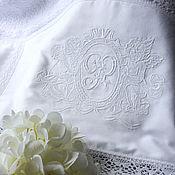 Работы для детей, handmade. Livemaster - original item Baptismal towel