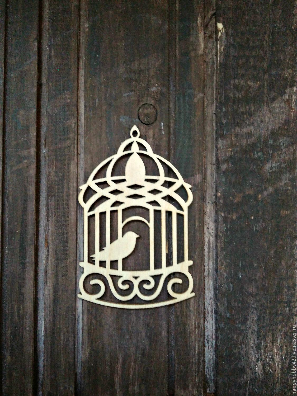 Клетка №2 декоративный элемент для декупажа, Декор для декупажа и росписи, Кемерово,  Фото №1