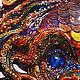 Фэнтези ручной работы. Рыбка золотая с синим камнем, приносящая богатство в дом. Оберег. Юлия Ренессанс (Renaissance). Ярмарка Мастеров.