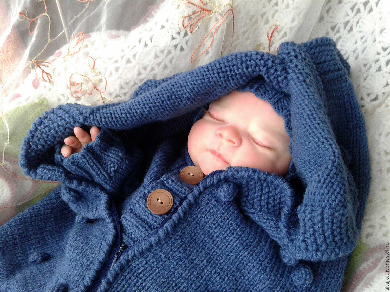 Вязание кокон для новорожденного 1