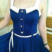 Одежда ручной работы. Ярмарка Мастеров - ручная работа Морское платье. Handmade.