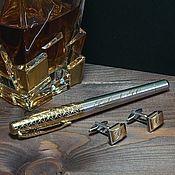 Наборы ручной работы. Ярмарка Мастеров - ручная работа Набор Премиум  ручка Паркер и запонки с гравировкой. Handmade.