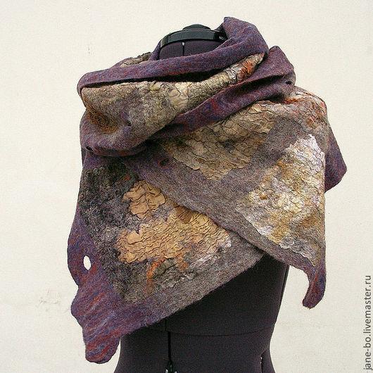 """Шарфы и шарфики ручной работы. Ярмарка Мастеров - ручная работа. Купить Валяный шарф """"Лоскутный"""", нуно-войлок. Handmade."""