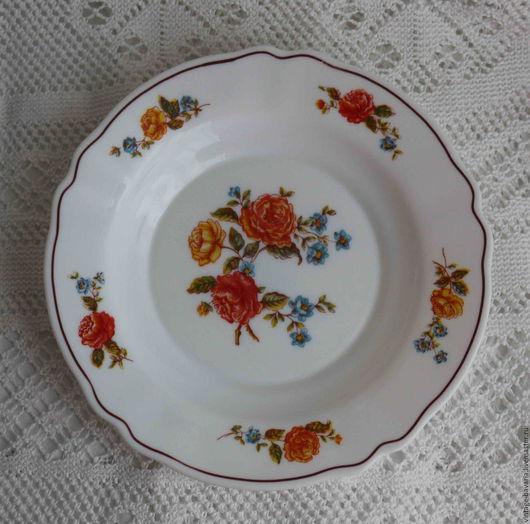 Винтажная посуда. Ярмарка Мастеров - ручная работа. Купить Тарелки из молочного стекла, Франция. Handmade. Комбинированный, винтажный стиль