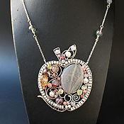Украшения handmade. Livemaster - original item The Crystal Apple pendant (variant with pearls). Handmade.