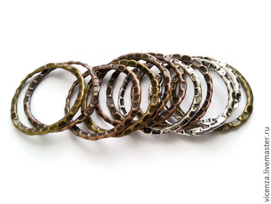 Коннектор кольцо  27 мм. Цвет: серебро, бронза, медь.