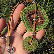Украшения handmade. Livemaster - original item Pendant from polymer clay technique the ragged edge. Handmade.
