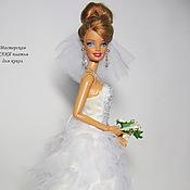"""Одежда для кукол ручной работы. Ярмарка Мастеров - ручная работа Свадебное платье """"Облачко"""". Handmade."""