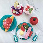 Кукольная еда ручной работы. Ярмарка Мастеров - ручная работа Вязаная еда, вязаные игрушки, еда куклам, магазин. Handmade.
