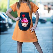 Одежда handmade. Livemaster - original item Summer dress with stylish front pocket - DR0224W2. Handmade.